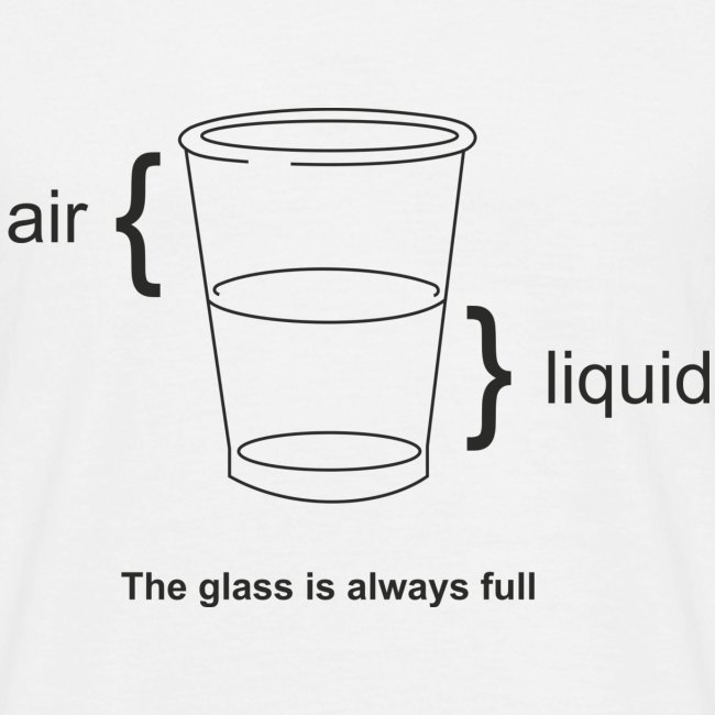Glass half full or empty (physics view)
