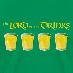 Lord of the Drinks - for green Shirts T-Shirts - Männer Premium T-Shirt