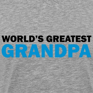 World's greatest grandpa - Premium T-skjorte for menn