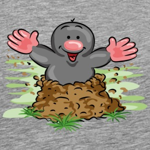 Happy Mole T-skjorter - Premium T-skjorte for menn