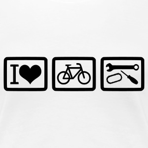 I love bike repair vorne - Frauen Girlieshirt - Frauen Premium T-Shirt