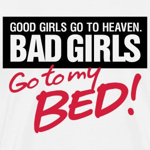 Bad Girls 2 My Bed 2 (2c)++ T-shirts - Herre premium T-shirt