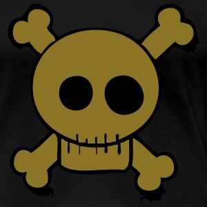 Gold skull and bones shirt - Vrouwen Premium T-shirt