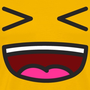 XD Smiley Smil T-shirts - Herre premium T-shirt