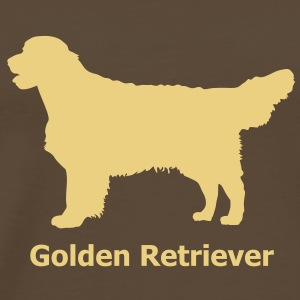 Golden Retriever Labrador T-skjorter - Premium T-skjorte for menn