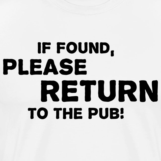 Please Return to the Pub