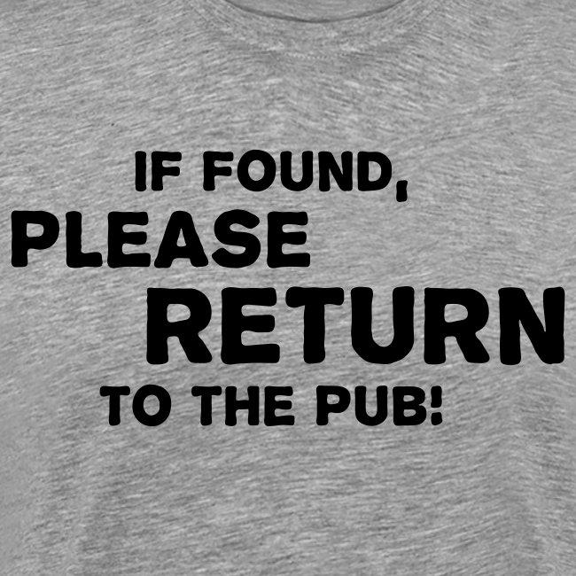 Please Return to the Pub