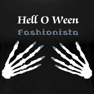 Coffin nail Hell O Ween Fashionista - Women's Premium T-Shirt