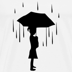 Raindrops keep falling on my head - Men's Premium T-Shirt