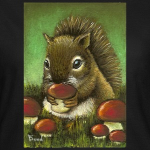 Squirrel and mushrooms - Women's T-Shirt