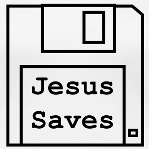 Jesus Saves - Womens Black Design - Women's Premium T-Shirt