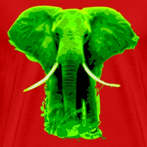 Afro - green Elefant T-Shirts - Men's Premium T-Shirt