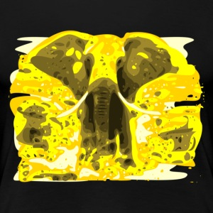 Gelber Elefant in Mittagssonne - Women's Premium T-Shirt