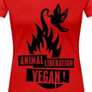 Motiv ~ Womens Shirt 'animal liberation vegan' BL