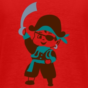 Retro Kid Billy comme un pirate par Patjila T-shirts - T-shirt Premium Homme