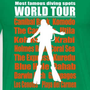 Famous diving spots worldtour T-Shirts - Men's Premium T-Shirt