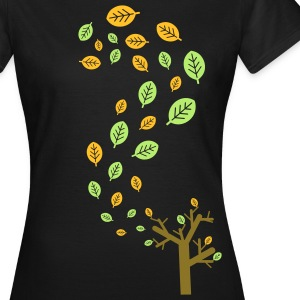 Autumn leaves in the wind - 3 colors T-Shirts - Women's T-Shirt