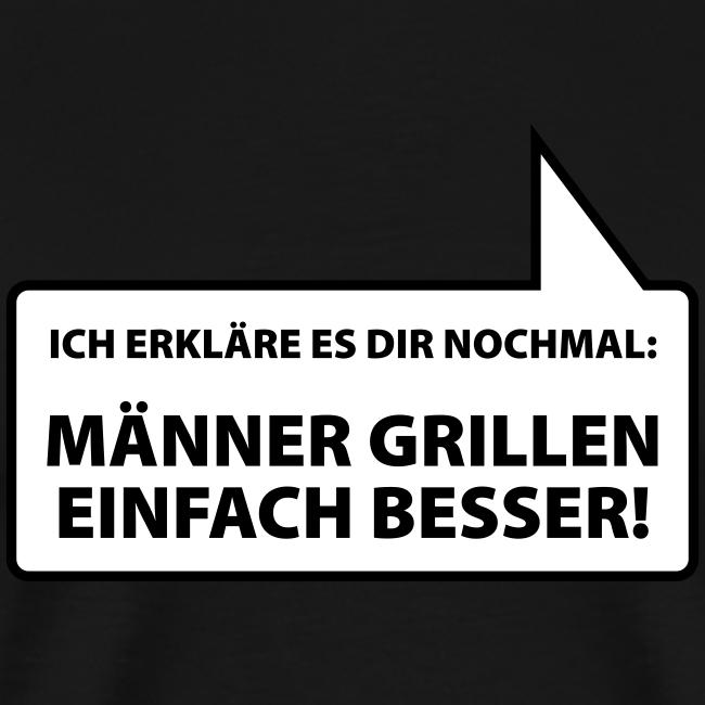 männer grillen besser (1c) - shirt