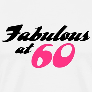 Fabulous At 60 (2c) T-shirts - Herre premium T-shirt