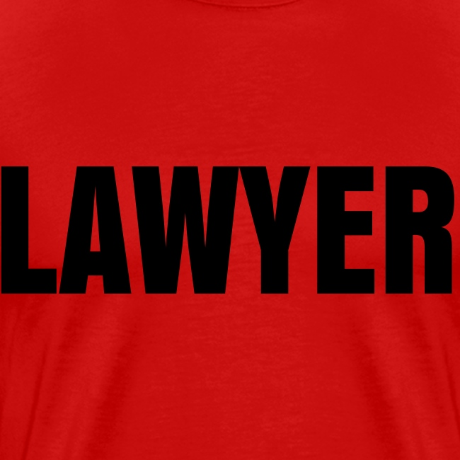 LAWYER Black on Red