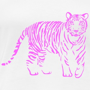 shirt tiger katze löwe puma lion cougar cat zoo wild tiershirt shirt tiermotiv tigermotiv party T-Shirts - Frauen Premium T-Shirt