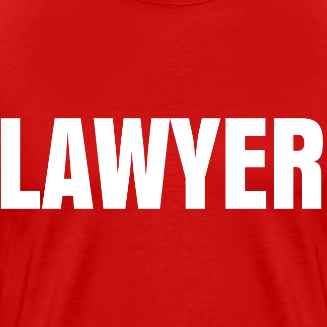 LAWYER White on Red