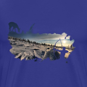 bowhunter splash Winterlandschaft T-Shirts - Männer Premium T-Shirt