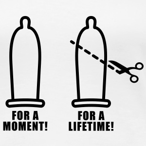 For a moment | Condom | Scissors | Prevention T-Shirts - Premium-T-shirt dam