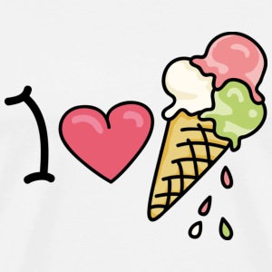 I love icecream T-shirt - Maglietta Premium da uomo