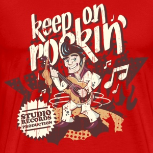keep on rockin - www.creeight.de - Männer Premium T-Shirt