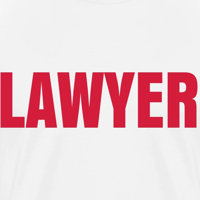 LAWYER Red on White