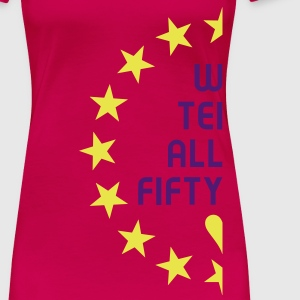 Wortsalat - WIR TEILEN ALLES FIFTY FIFTY - Partnerlook links | Girlieshirt - Frauen Premium T-Shirt