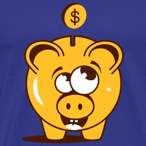 A funny piggy bank with a dollar T-Shirts - Men's Premium T-Shirt