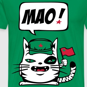 Communist cat flex - Men's Premium T-Shirt