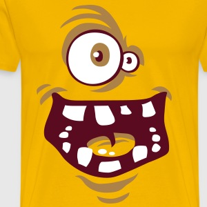 Funny monster face flex - Men's Premium T-Shirt