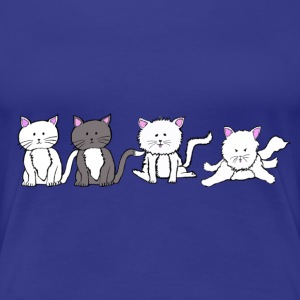 4 CATS création Louis RUNEMBERG illustrateur - T-shirt Premium Femme