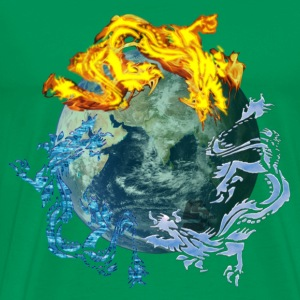 recyclage dragon - T-shirt Premium Homme