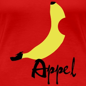 Banana / Apple Artwork T-shirt - Maglietta Premium da donna