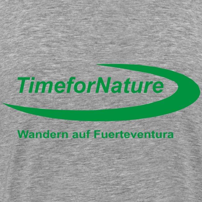 TimeforNature-Shirt für Herren mit Logo rückseitig
