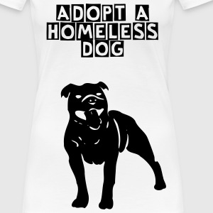 Adopt a homeless dog - Frauen Premium T-Shirt