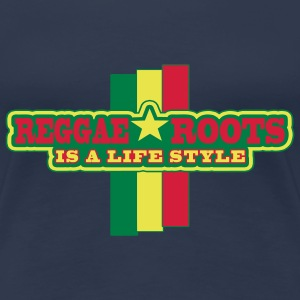 reggae roots is a life style - Premium-T-shirt dam