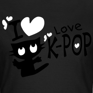 I love k-pop txt black kitty cat vector women's t-shirt by american apparel - Women's T-Shirt