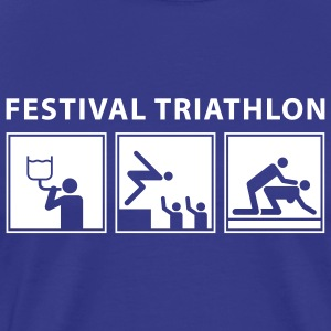 festival_triathlon_092011_a_1c_black T-Shirts - Men's Premium T-Shirt