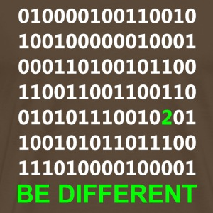 Be Different - Binary - Digital T-Shirts - Men's Premium T-Shirt