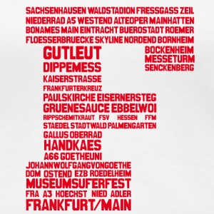Frankfurt am Main Red T-Shirts - Frauen Premium T-Shirt