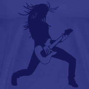 guitar player T-Shirts - Mannen Premium T-shirt