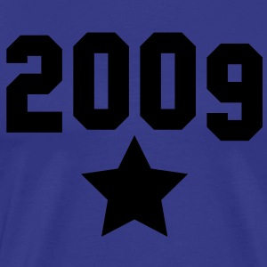 2009 with a silver star T-Shirts - Men's Premium T-Shirt