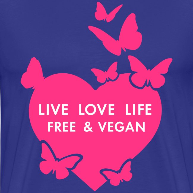 Mens - LIVE LOVE LIFE FREE & VEGAN