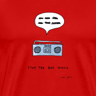 Design ~ Stop the bad music - Men's color tee