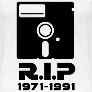 5.25-inch floppy disk Rest in Peace RIP death Retro Nerd Geek T-Shirts - Women's Premium T-Shirt